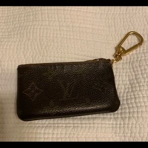 Lv key chain card holder
